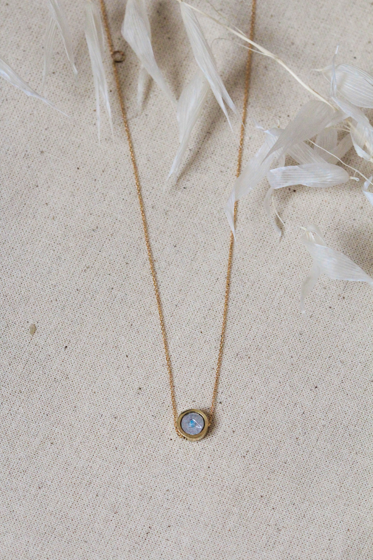 Collier long opale or 14kt