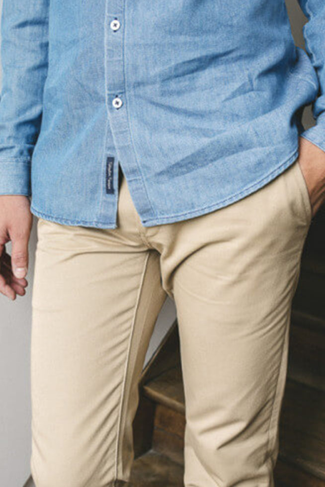 Chino beige made in France
