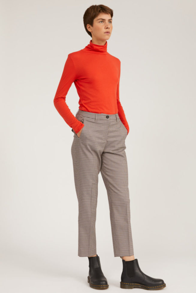 Coco Friendly pantalon microcheck