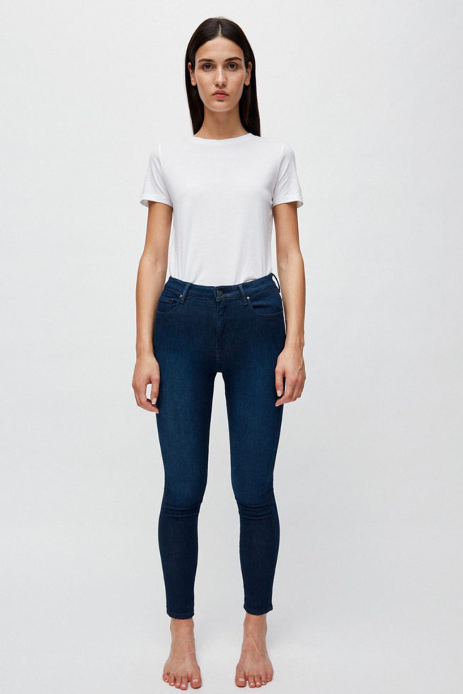 coco friendly skinny bleu foncé stretch coton bio
