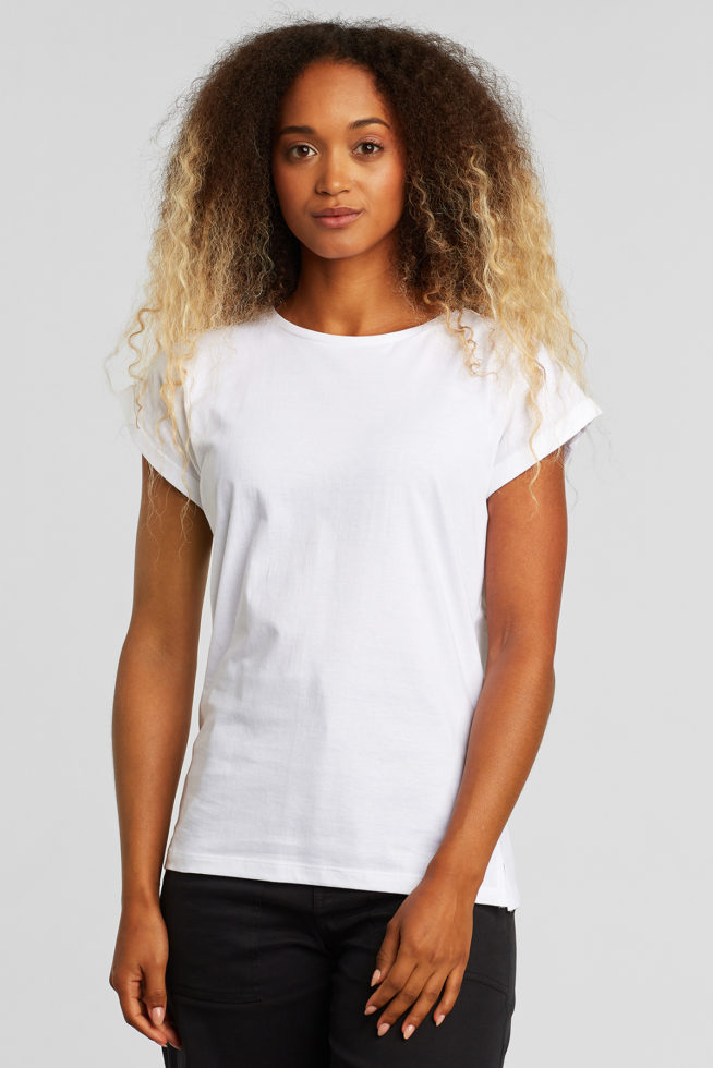 coco friendly tshirt cintré blanc
