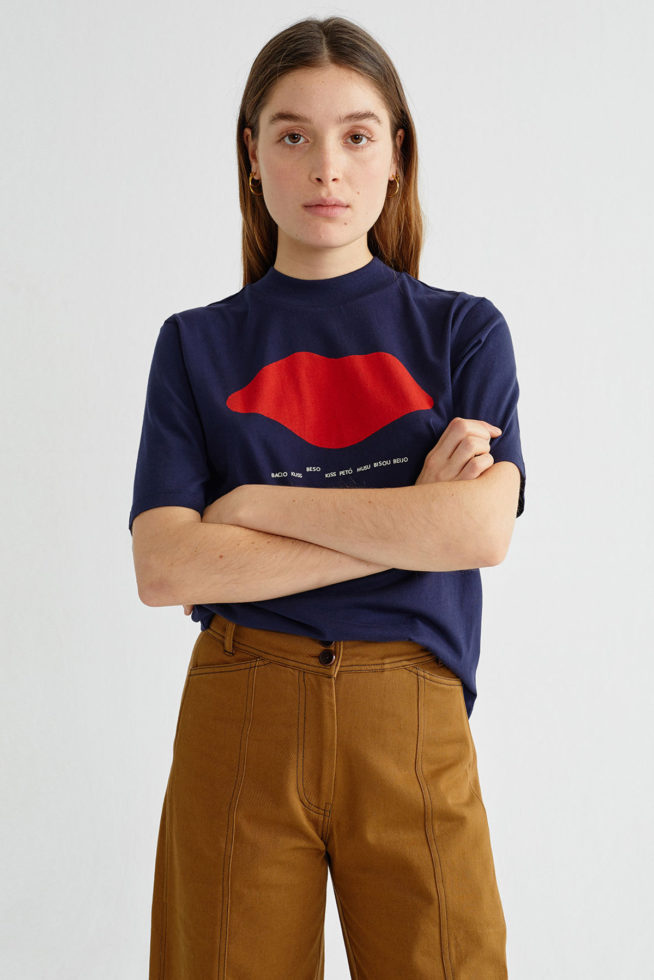 coco friendly tshirt navy bisou